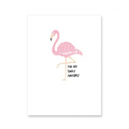 "Jewellery cards ""you are amazing"" White-Pink"