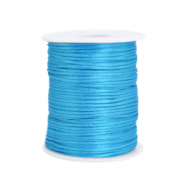 Satin wire 1.5mm Deep Sky Blue