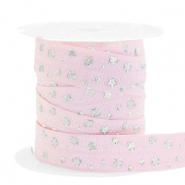 Elastic ribbon stars Light Pink-Silver