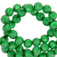 Polaris beads round 6 mm Mosso shiny Bright Green