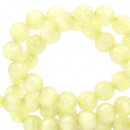 Polaris beads round 6 mm Mosso shiny Limelight Yellow