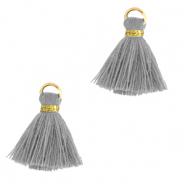 Tassels 1.5cm Gold-Pewter Grey