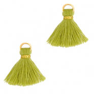 Tassels 1.5cm Gold-Light Olive Green