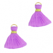 Tassels 1.5cm Gold-Light Purple