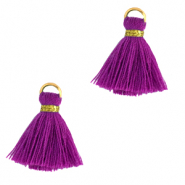 Tassels 1.5cm Gold-Orchid Purple