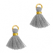 Tassels 1cm Gold-Pewter Grey