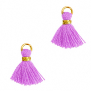Tassels 1cm Gold-Light Purple