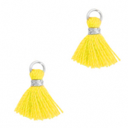 Tassels 1cm Silver-Freesia Yellow