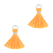 Tassels 1cm Silver-Paradise Orange
