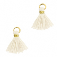 Tassels 1cm Gold-Off White