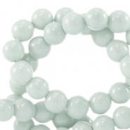 4 mm glass beads opaque Pagoda Blue