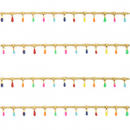 Stainless steel findings belcher chain spike Gold-Multicolour