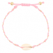 Anklets / Ankle bracelets Cowrie braided Light Pink