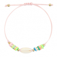 Ready-made Bracelets Cowrie Katsuki Multicolour-Peachy Rose