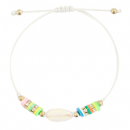 Ready-made Bracelets Cowrie Katsuki Multicolour-White