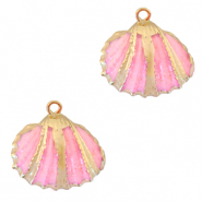 Shell pendant specials Cockles Gold-Rose