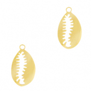 Stainless steel charms Cowrie Gold