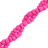 Coconut beads disc 4mm Azalea Pink