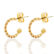 DQ European metal findings creole earrings 11mm Gold (nickel free)