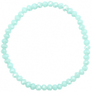 Top faceted bracelets 4x3mm Clearwater Blue-Pearl Shine Coating