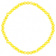 Top faceted bracelets 4x3mm Blazing Yellow-Pearl Shine Coating