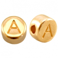 DQ metal letterbead A Gold (nickel free)