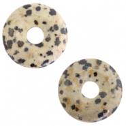 Natural stone charm disc Elm Grey-Greige