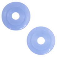 Natural stone charm disc Ultramarine Blue