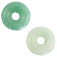 Natural stone charm disc Meadow Green