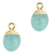Natural stone charms Icy Morn Blue-Gold