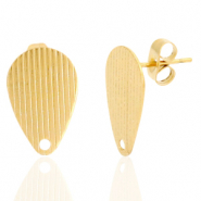 Stainless steel earrings/earpin drop with eye Gold