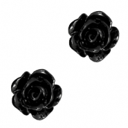 Rose beads 10mm Black