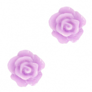 Rose beads 10mm Sheer Lilac Purple