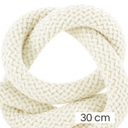 Maritime cord 10mm (3x30cm) Ivory White
