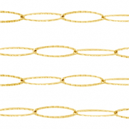Stainless Steel findings belcher chain long oval links Gold