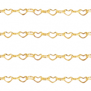 Stainless Steel findings belcher chain heart links Gold