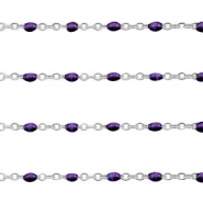 Stainless steel findings belcher chain 1mm Regal Purple-Silver