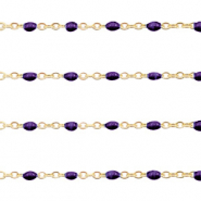 Stainless steel findings belcher chain 1mm Regal Purple-Gold
