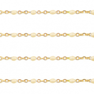 Stainless steel findings belcher chain 1mm Almond Oil Beige-Gold
