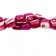 Shell beads tube Cherry Red