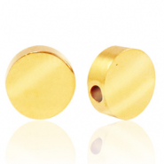 Stainless steel beads round 8mm Gold