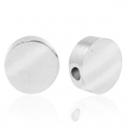 Stainless steel beads round 8mm Silver