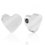 Stainless steel beads heart Silver