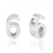Stainless steel beads number 6 Silver