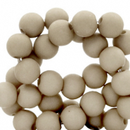 8 mm acrylic beads Vetiver Grey