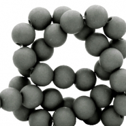 8 mm acrylic beads Dark Sleet Grey