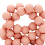 8 mm acrylic beads Peach Bloom Rose