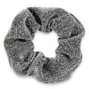 Scrunchie glitter hair tie Silver Grey