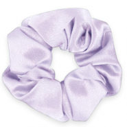Scrunchie silky hair tie Sheer Lilac Purple