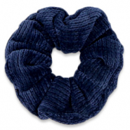 Scrunchie corduroy hair tie Ensign Blue